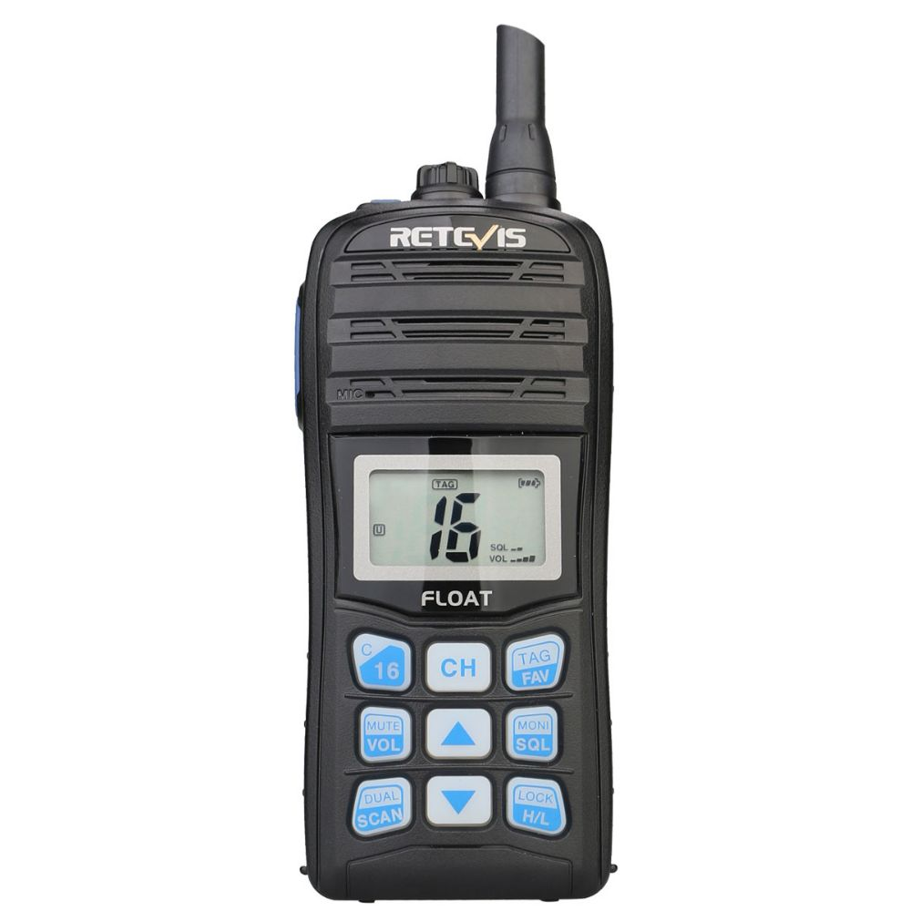 Retevis Marine-RT55 compact Floating Handheld VHF Radio with USB charger