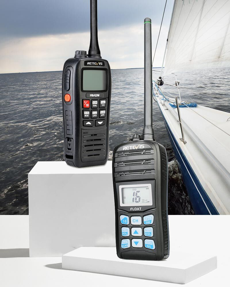 Why VHF marine radios are used out at sea